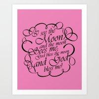 Baby Girl Rhyme 2 Art Print