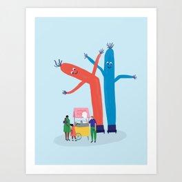 Air Dancers Art Print