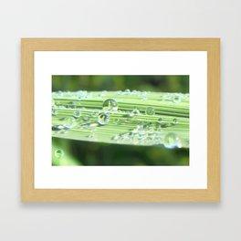 Water drop people Framed Art Print