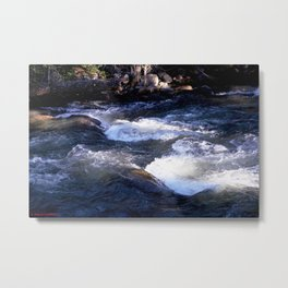 Morning Sun on the Rapids of Vallecito Creek, No. 1 of 2 Metal Print