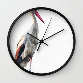 White Stork Ciconia Wall Clock