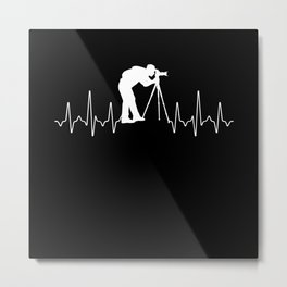 Heartbeat Photography Metal Print