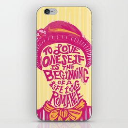 Love Oneself for a Lifelong Romance iPhone Skin