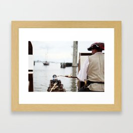 Pirate Series - Fire at will  Framed Art Print