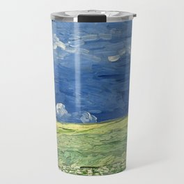 Vincent van Gogh - Wheatfield Under Thunderclouds Travel Mug