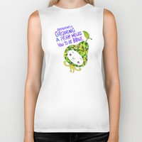 pear Biker Tanks featuring Pear by Chika Ando