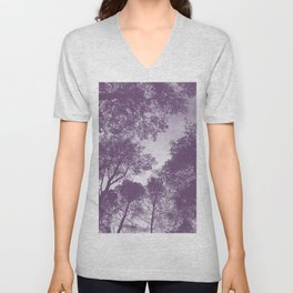Forest view - lilac Unisex V-Neck