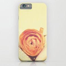 {Old Book and Ranunculus} iPhone 6s Slim Case