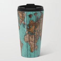 Wood Map Travel Mug