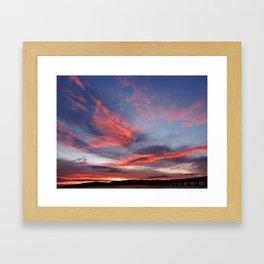 Red sky in the morning Framed Art Print
