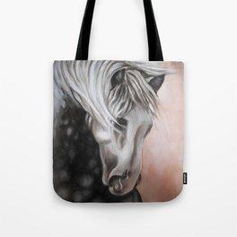 Lusitano Horse Oil Study Tote Bag