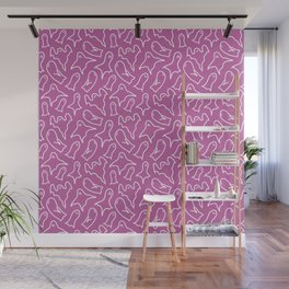 Purple ghost pattern Wall Mural