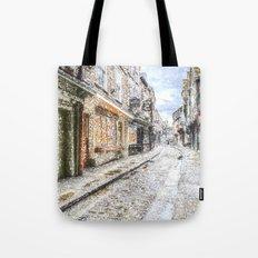 The Shambles York Snow Art Tote Bag