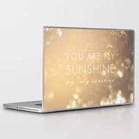 you are my sunshine Laptop & iPad Skins featuring You Are My Sunshine by Sandra Arduini