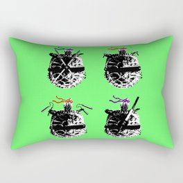 Heroes in a Half Shell Color Rectangular Pillow