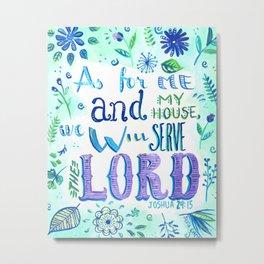 Purple and Blue Bible Verse Metal Print