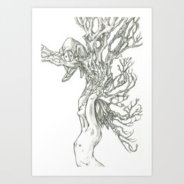 I grew this so you would visit. Art Print