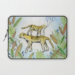 Jaguar illustration baloon party jungle nature Laptop Sleeve