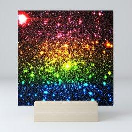 Rainbow Sparkle Galaxy Stars Mini Art Print