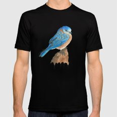 Blue Bird Black Mens Fitted Tee MEDIUM