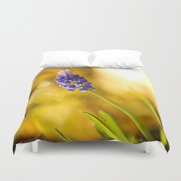 Beautiful Spring Muscari Bokeh background  #decor #society6 #homedecor Duvet Cover
