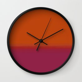 Gradient - Orange and Red Hue Wall Clock