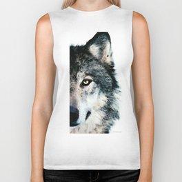 Wolf Art - Timber by Sharon Cummings Biker Tank