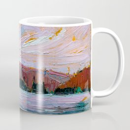 Tom Thomson - Pink Clouds - Canada, Canadian Oil Painting - Group of Seven Coffee Mug