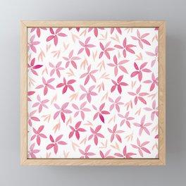 Floral #3 | Pink Palette Framed Mini Art Print