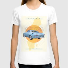 1971 Volvo 1800E MEDIUM White Womens Fitted Tee