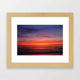 Scripps Pier - Sunset Framed Art Print