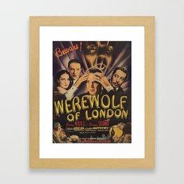 Werewolf of London, vintage horror movie poster 4 Framed Art Print