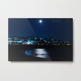 Wolf Moon Rising Over Blue Waters Metal Print