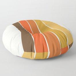 Righteous - 70s style throwback rainbow art 1970s minimalist art Floor Pillow