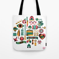 movies Tote Bags featuring Summer Movies by RevengeLover