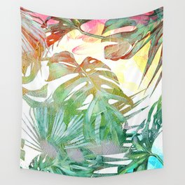 tropical and abstract tropical painting pattern Wall Tapestry