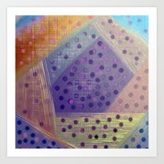 Soft Geometry Art Print