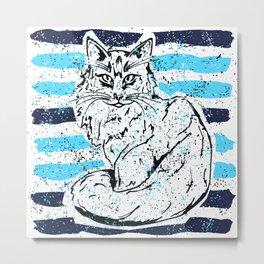 Cat stripes Metal Print