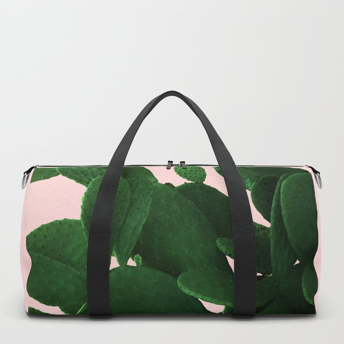 Cactus On Pink Duffle Bag