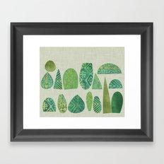 Watercolour Topiary Framed Art Print