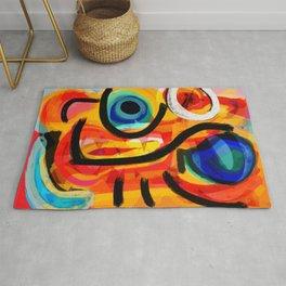 Abstract Art Good Energy Summer Vibes Rug