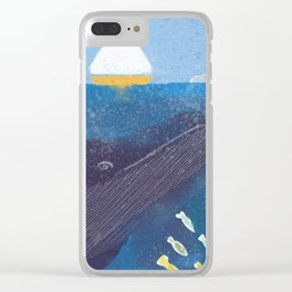 The Whale And The Yellow Sail Boat Clear iPhone Case