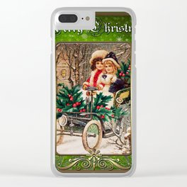 Christmas Vintage 107 Clear iPhone Case