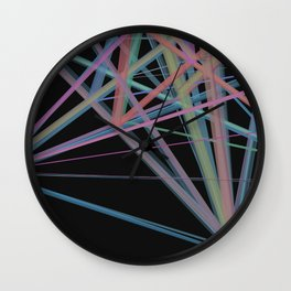 Geometric Diamond Light Prism Wall Clock