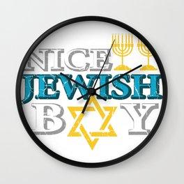 Nice Jewish Boy Jewish Boy Gift Wall Clock