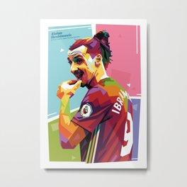 Zlatan Ibrahimovic alt-color WPAP Metal Print