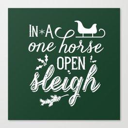 One Horse Open Sleigh Canvas Print