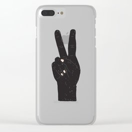 Peace Hand Clear iPhone Case
