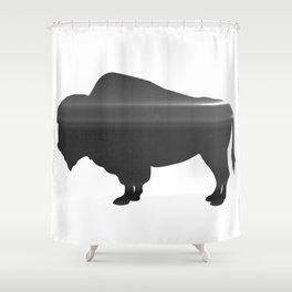 Buffalo print, Black & White Shower Curtain