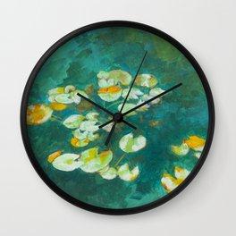 Serene Lotus Pond Wall Clock